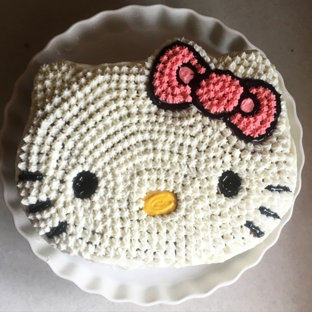 Hello Kitty Rainbow Layer Cake With Cream Cheese Frosting