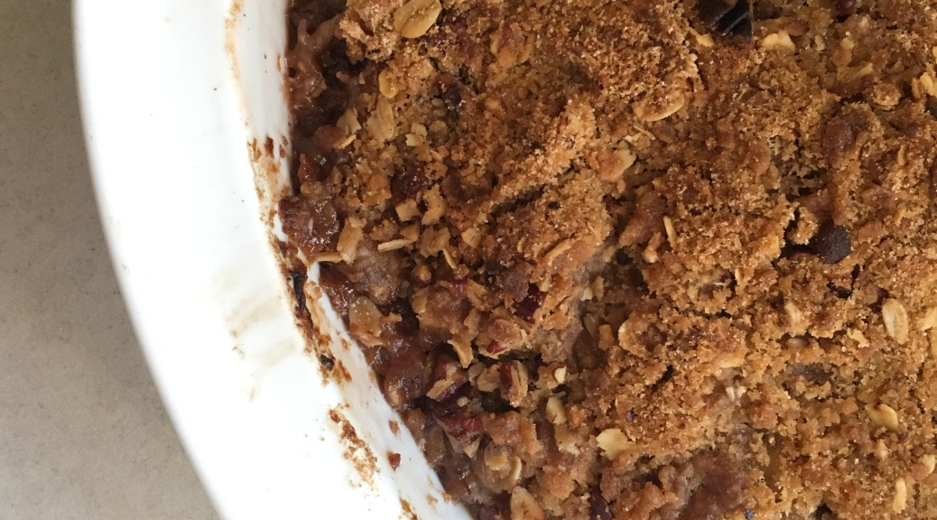 pear plum and apple crisp