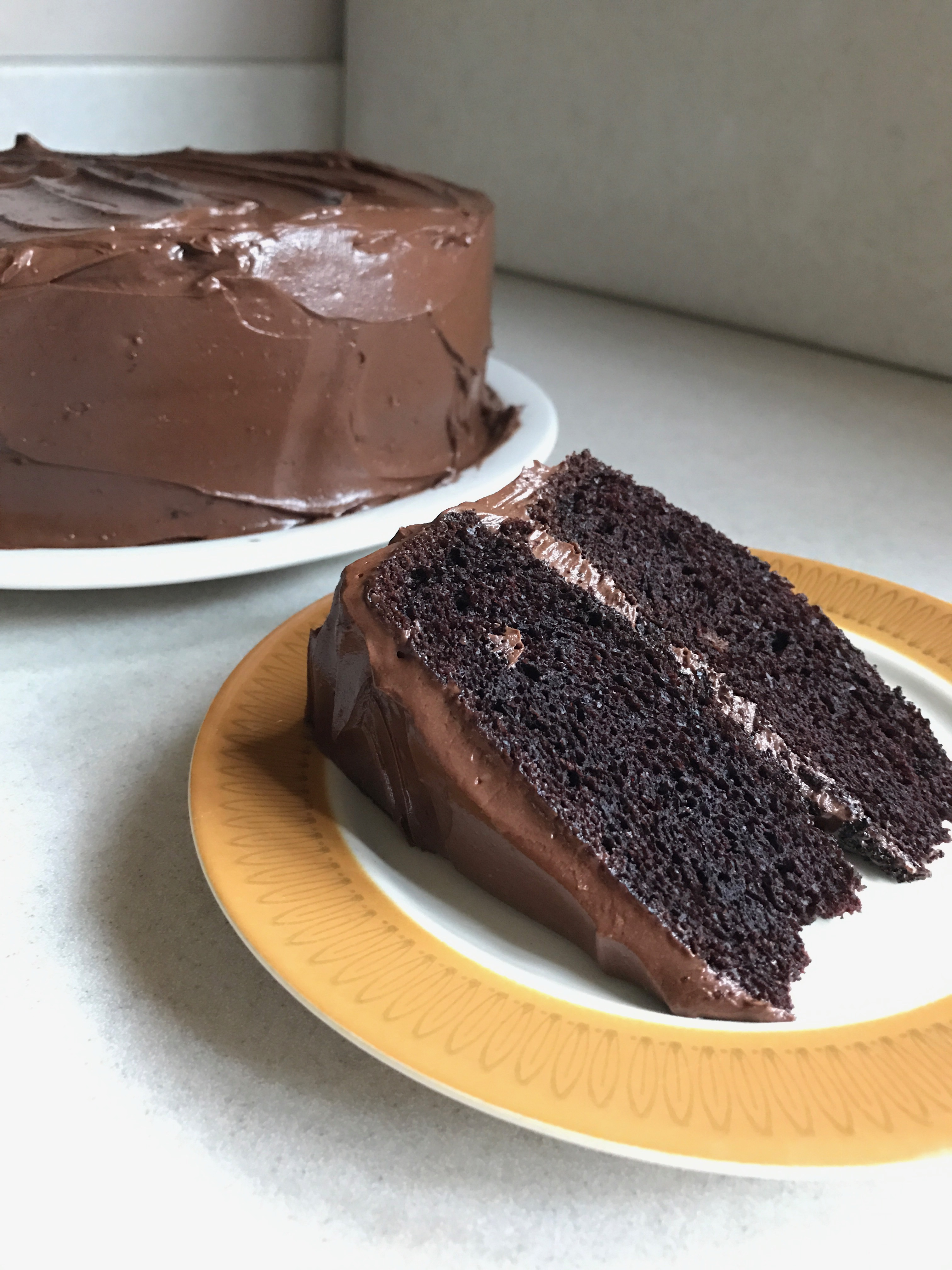 Rich Dark Chocolate Tea Cake with Chocolate Buttercream Frosting ...